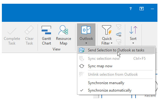 Synchronising Tasks with Outlook | MindGenius